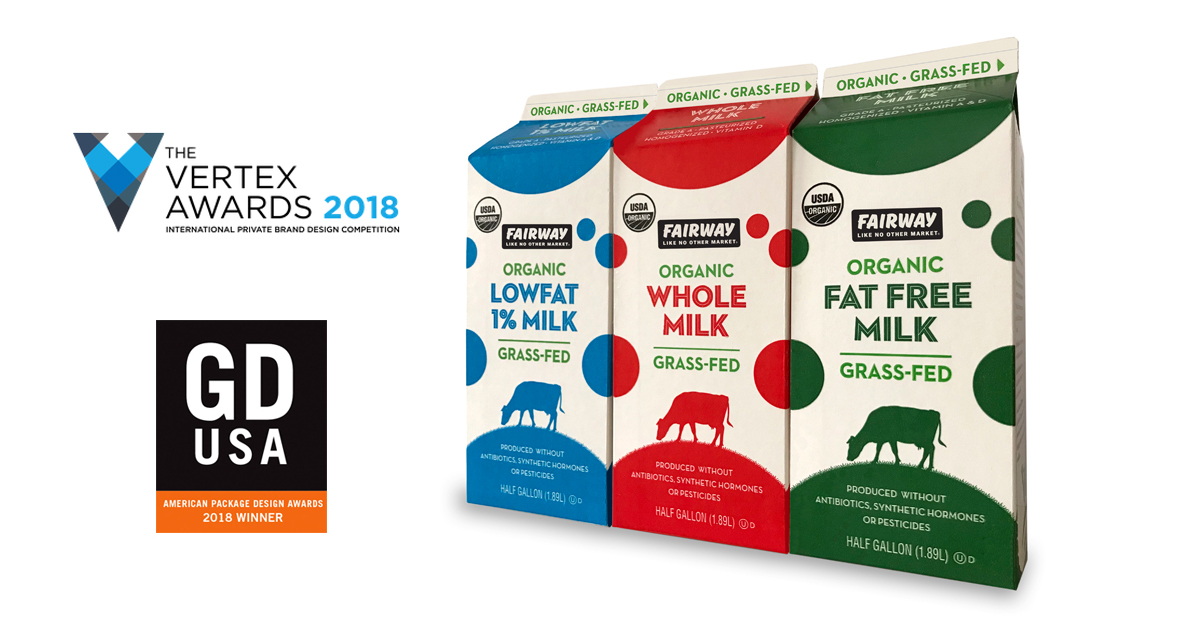 Fairway Milk package wins Vertex Design Award