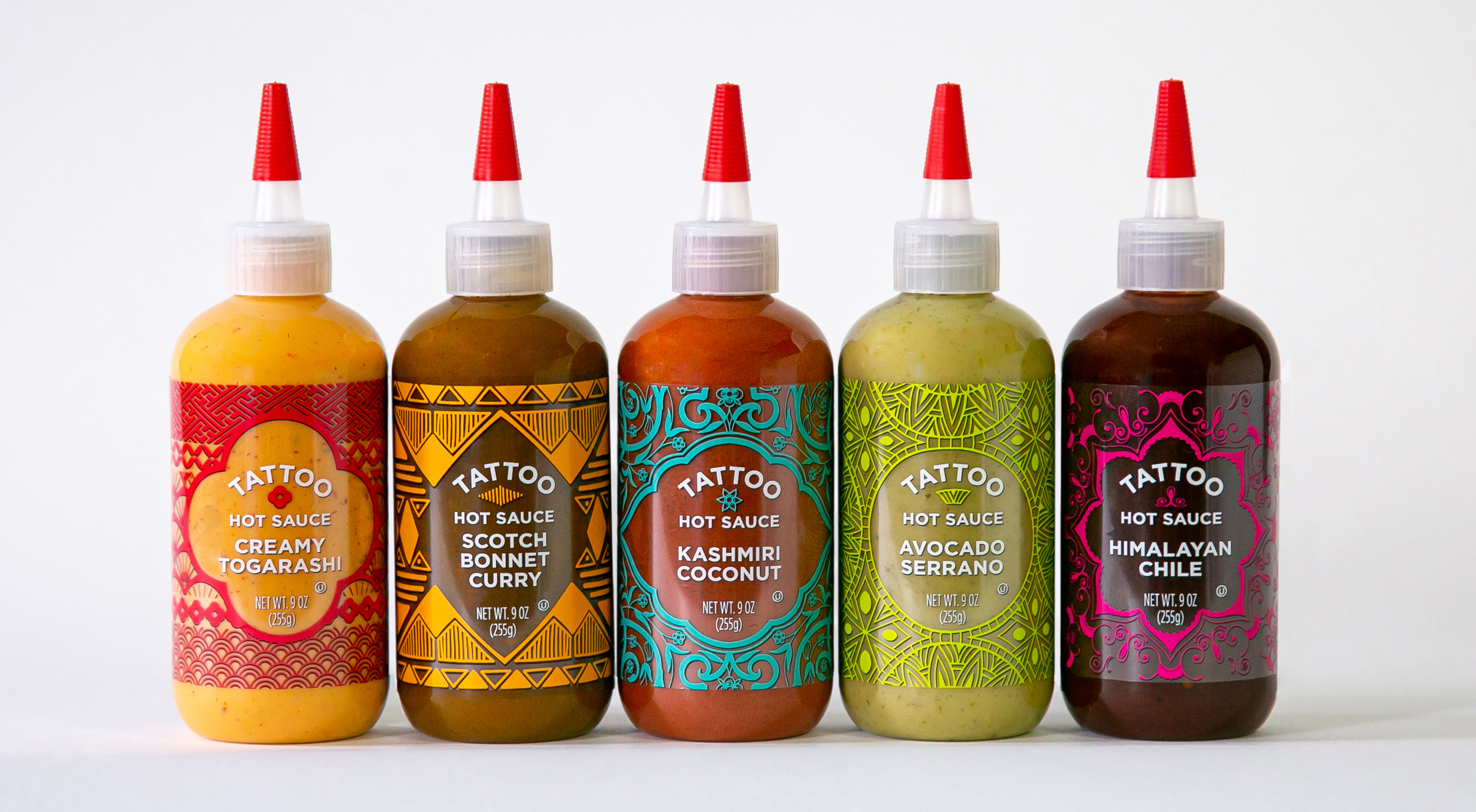 photo of Tattoo sauces branding and package design