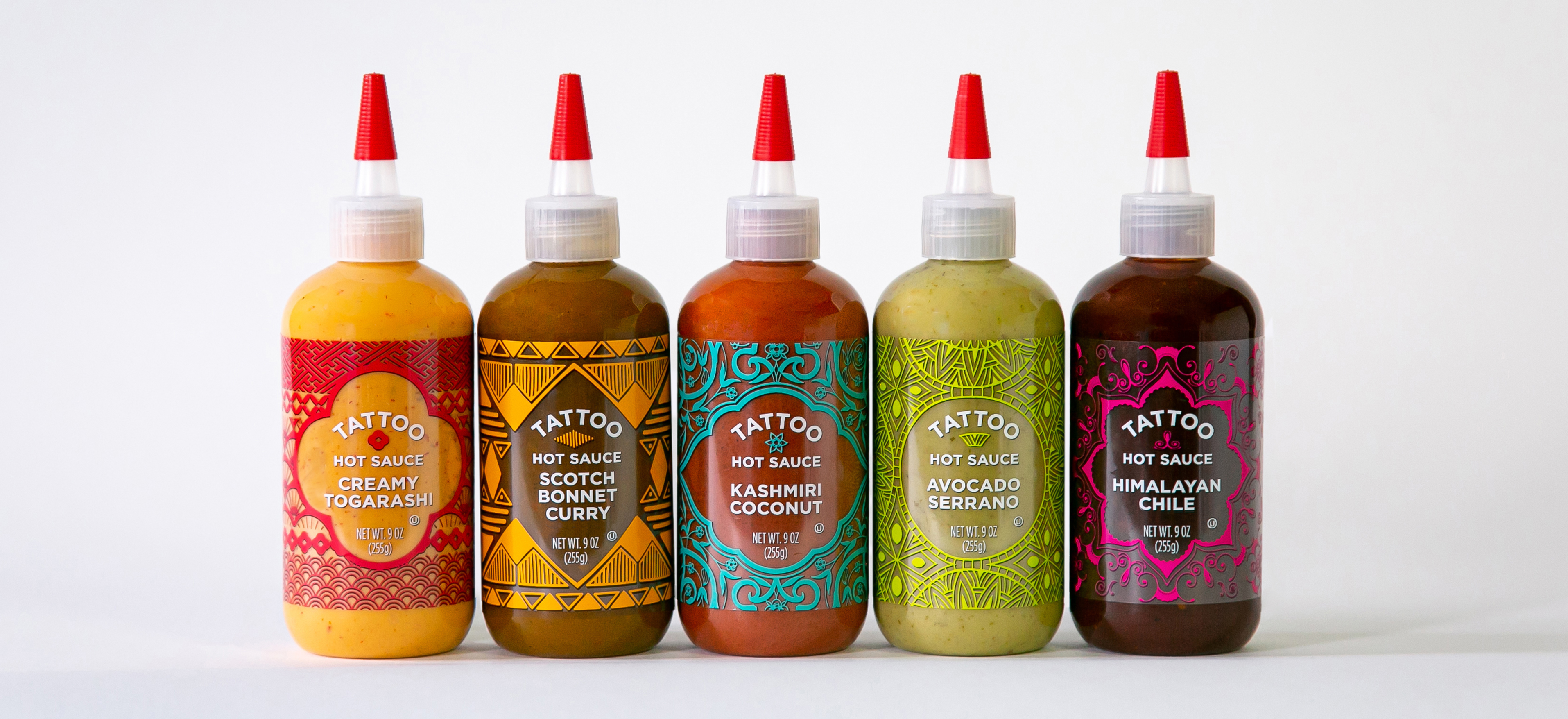 Photo showing Tattoo Sauces Branding and Package Design