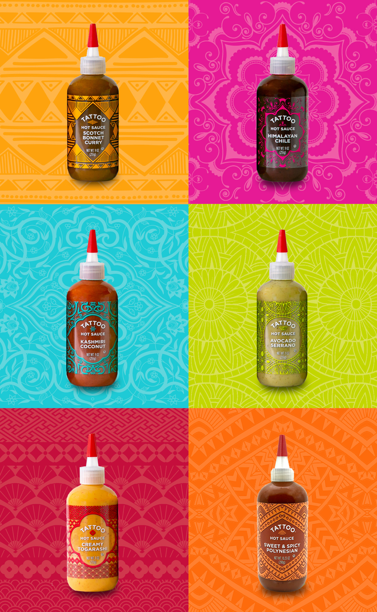 photo of Tattoo hot sauce branding package design