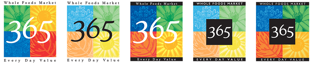 The design of Whole Foods 365 brand
