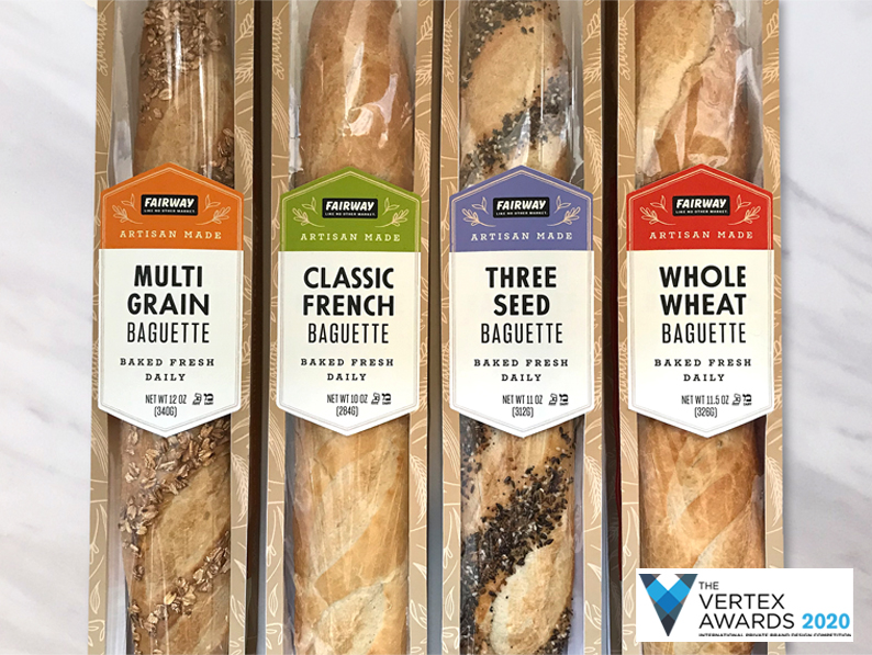 Fairway Market package design wins 2020 Vertex Award