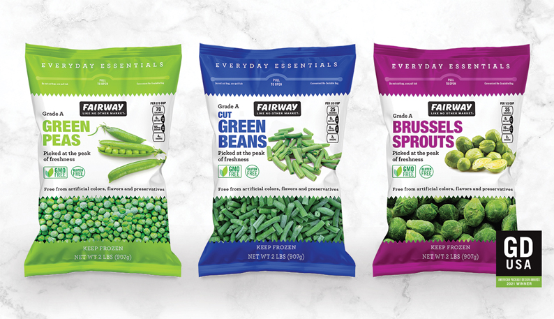 Fairway private brand package design wins GDUSA award